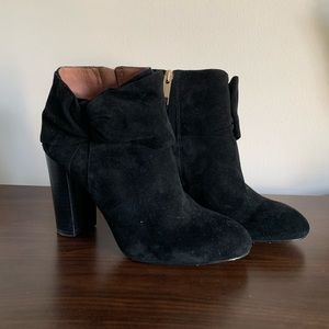 Black Suede Louise Et Cie Bow Booties